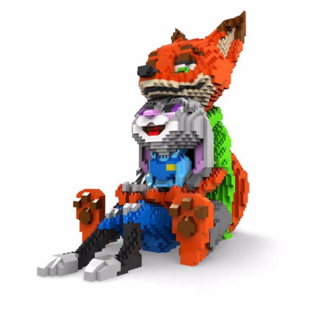 Toy Anime Zootopia Fox Nick Rabbit Judy Figures Diamond Mini Building Nano Block