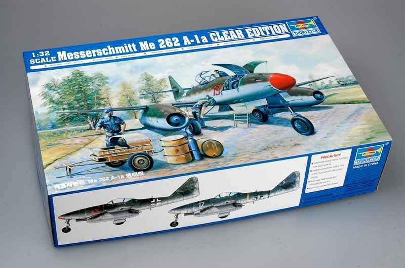 02261 Trumpeter 1 32 Model Messerschmitt MeE262a-1a Clear Edition Fighter Plane