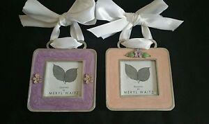 Meryl Waitz Contemporary Silver Enamel Picture Frames Wribbon