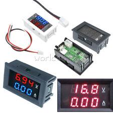 Digital Dual Led Bluered Redred Volt Amp Voltmeter Ammeter Meter Gauge Dc 100v