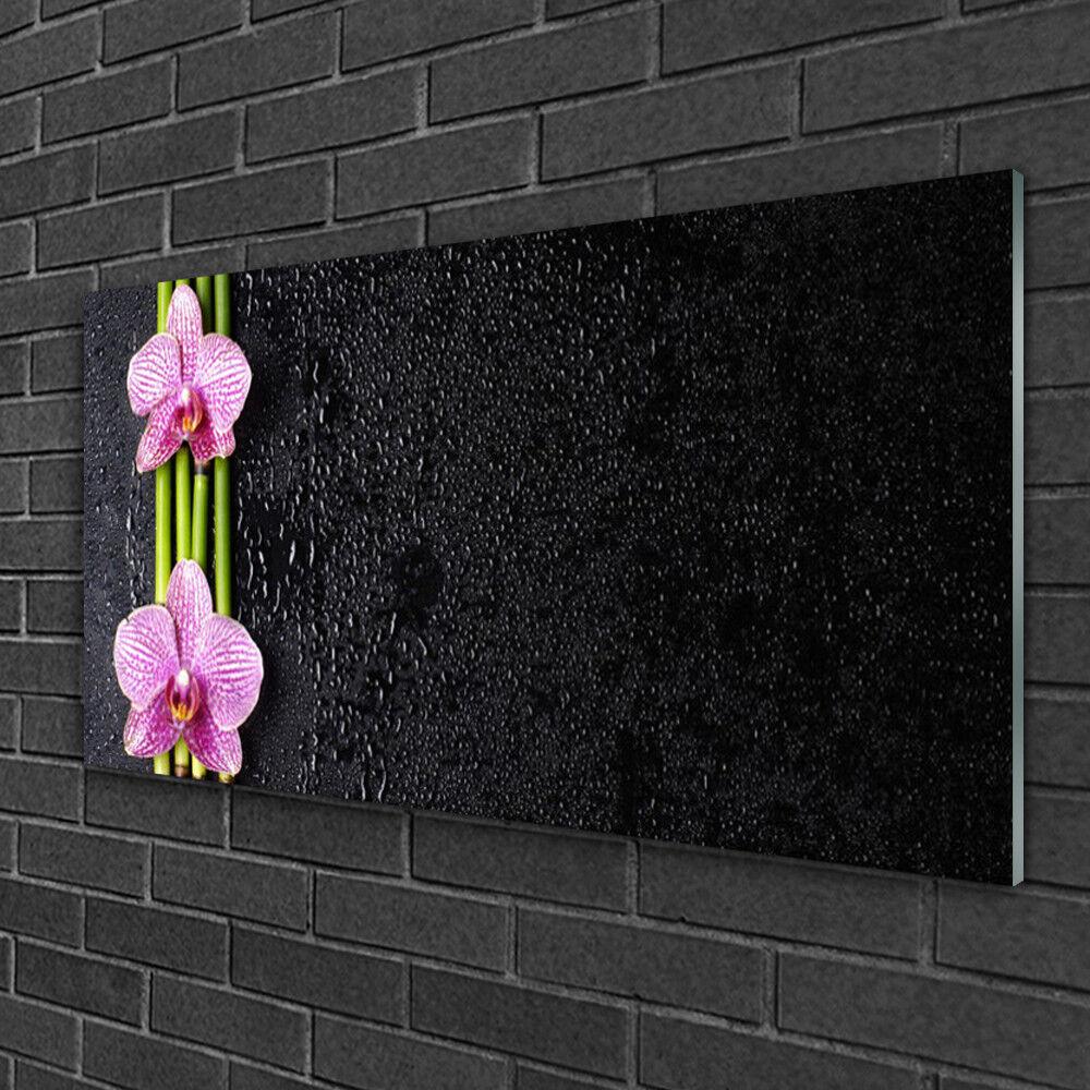 Tableau sur Plexiglas® Image Impression 100x50 Floral Bambou Fleurs