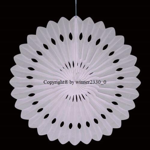 1 Pack of WHITE 40cm Ø Tissue Paper Rosettes Hanging Fan Wedding Birthday Decor