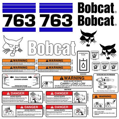 Bobcat 763 v2 Skid Steer Set Vinyl Decal Sticker bob cat MADE IN USA 25 PC SET