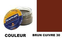 Cirage Cuir Chaussure Pommadier Marron Brun Cuivre 30 Saphir