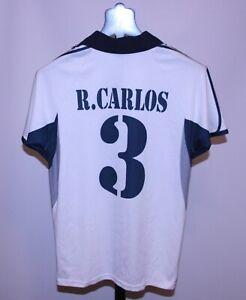 Retro Real Madrid Spagna Maglietta da calcio #3 ROBERTO CARLOS BRASILE TAGLIA S