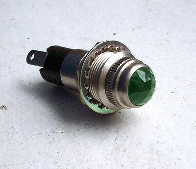 Vintage GREEN lens dash gauge panel light Hot Rod 5//8 DIALCO OLD one RARE