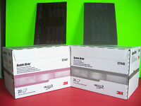 3m Scotch Brite Scuff Pad Combo 7447 & 7448 20 Count Boxes Maroon & Grey Pads