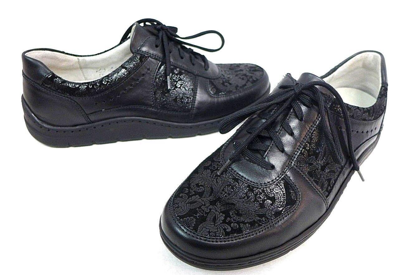 Waldläufer 399004 Damen Schnür Schuhe schwarz Größe 4 - 6.5 399004 Waldläufer 201 001 Hassi WEICH d47da4