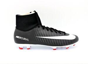 8745ddae6189 New Nike Men s Mercurial Victory VI DF FG Cleat Black White Dark ...