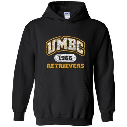 Black UMBC Retrievers Athletic Arch Hoodie