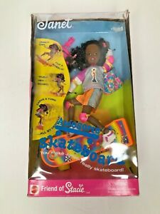 Vintage-1999-Janet-Mattel-Awesome-Skateboard-friend-of-Stacie-NEW-UNOPENED