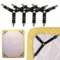 4X Triangle Bed Mattress Sheet Clips Grippers Straps Suspender Fasteners HolderB