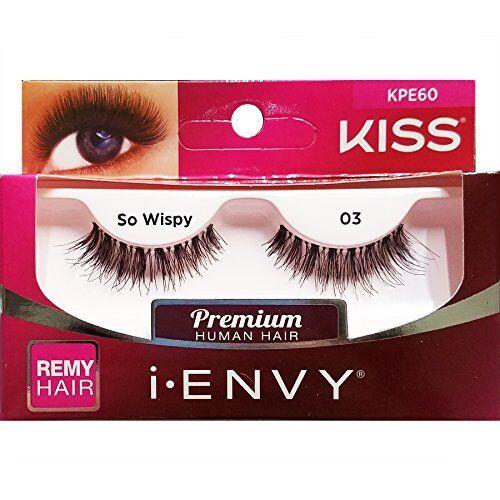 e2057409668 Kiss I Envy 100 Human Hair Wispies Eyelashes so Wispy 03 KPE60 for sale  online | eBay
