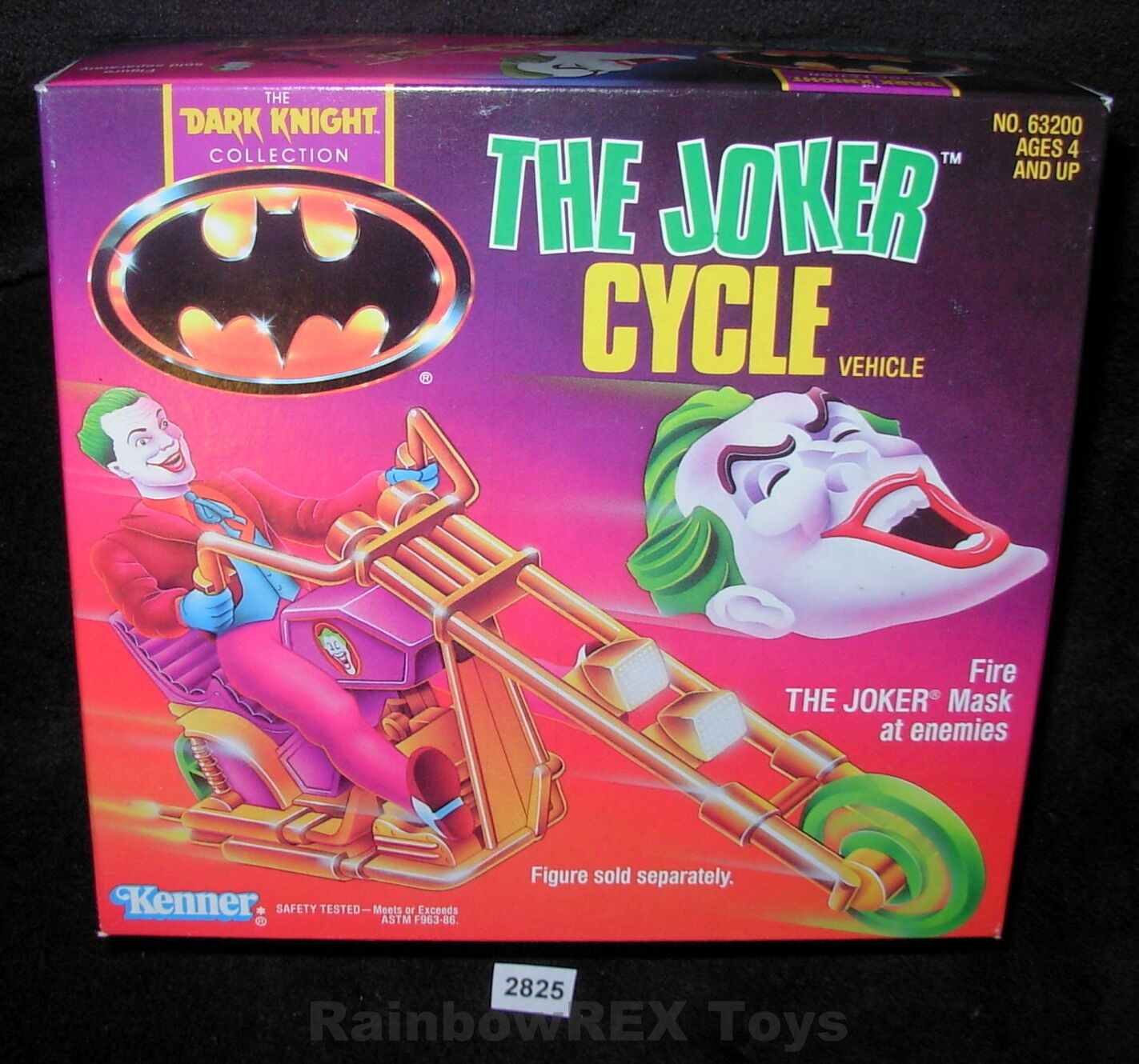 THE JOKER CYCLE VEHICLE 1990 The Dark Knight Collection Kenner MINT IN BOX
