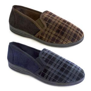 Zapatillas para hombre Polar Suave a Cuadros Nuevo