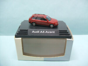Busch-AUDI-A4-AVANT-rouge-Voiture-HO-1-87