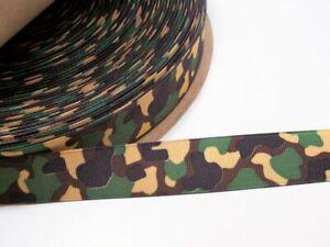 Offray-Vert-Camouflage-Gros-Grain-Ruban-7-8-pouces-de-large-x-20-metres-Camo-Ruban