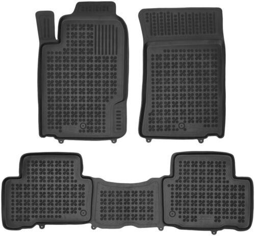 3-teilige schwarze Gummifußmatte für SSANGYONG Rexton W Bj ab 2012