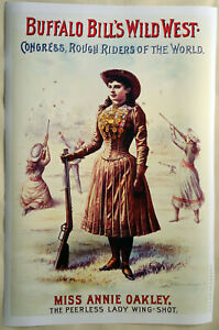 Hi-Q-XL-Format-Art-Print-of-Annie-Oakley-in-1890-Wild-West-Show-36-034-x24-034-Poster