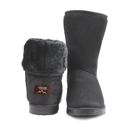 cbe7eb9a9f20 Winter BOOTS Women s Faux Fur Suede Mid Calf Warm Snow Fashion Plush 4  Colors Grey 8 for sale online