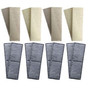 8-x-Fluval-U3-Mousse-compatible-et-Polycarbon-cartouches-filtre-interne-eponges