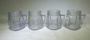 Oster-8-oz-Plastic-Mini-Blend-Jars-Blend-and-Store-Lot-of-4-MT