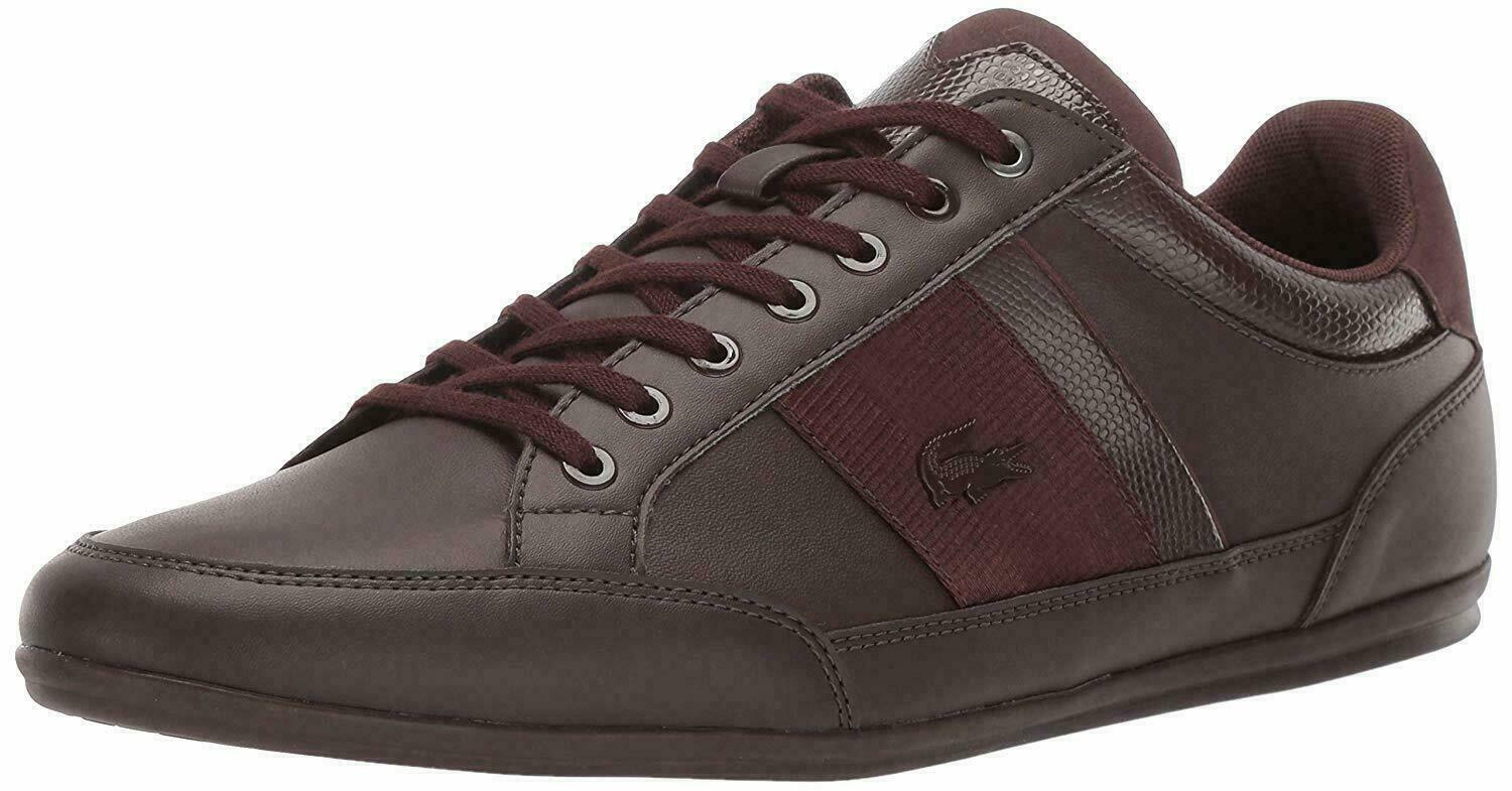 Lacoste CHAYMON 119 2 CMA Dark Brown Mens Fashion Sneakers 37CMA00072E2
