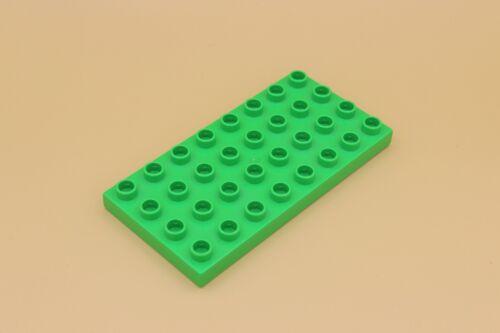Platte 8 x 4 Noppen Bauplatte Stein LEGO Duplo 32er Noppen flach grün 4672