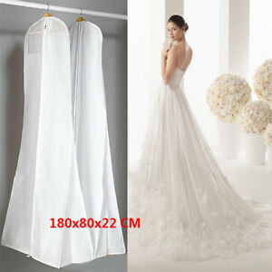 Extra-Large-Wedding-Dress-Bridal-Gown-Garment-Breathable-Cover-Storage-Bag-HE