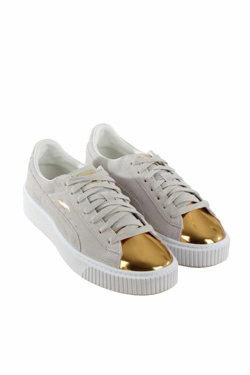 PUMA SUEDE 1.5  PLATFORM SNEAKERS SNEAKERS SNEAKERS WOMEN SHOES BEIGE gold 362222-01 SIZE 8 NEW 67a61e