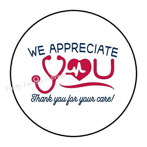 """30 WE APPRECIATE YOU DOCTOR NURSE ENVELOPE SEALS LABELS STICKERS 1.5/"""" ROUND"""