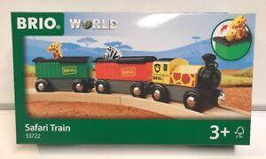Brio World Wooden Railway Safari Train Set #33722 , New