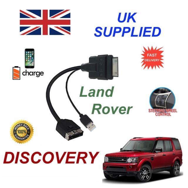 pour LANDROVER DISCOVERY Câble Audio iPhone 3GS 4 4s & plupart Ipods avec USB