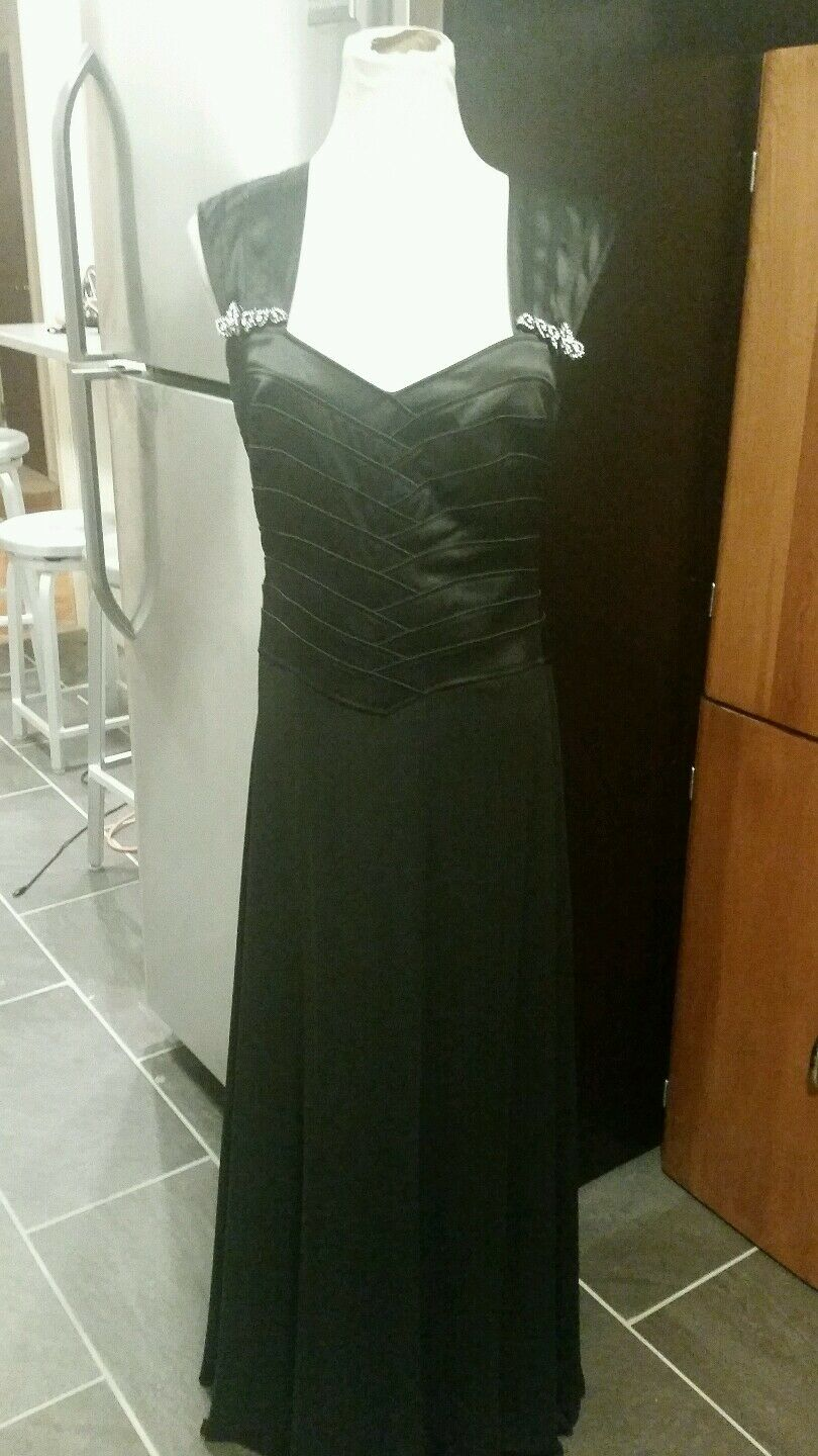 KM Collections by Milla Bell size 10 sleeveless floor length black mother of bri