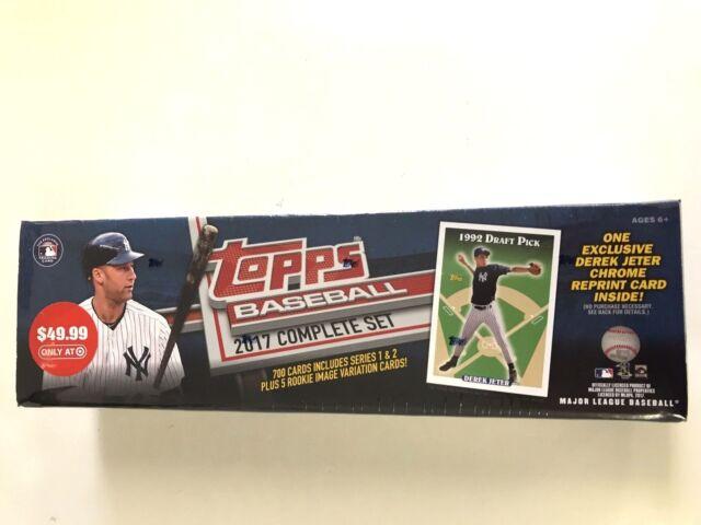 Topps 2017 Baseball Card Complete Set Derek Jeter 1992 Draft Pick Reprint