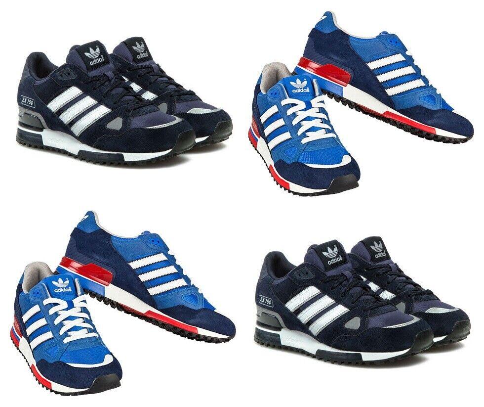 Adidas Originals ZX750 Zapatillas para hombre de ante Correr Deportes Zapatos Casuales