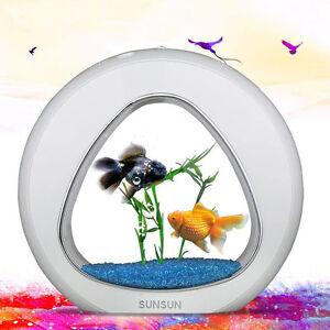 Pet Supplies Sunsun Ecology Mini Nano Fish Tank Aquarium With Built-in Filter And Led Light