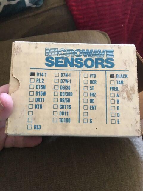 New Microwave Sensors Inc Presence Sensor 24vac Black D14 1 Blk
