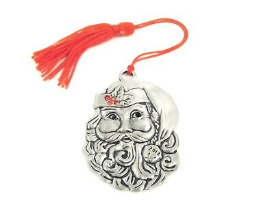 AVON Collectible Pewter Christmas Ornaments 2012 Santa NEW ...
