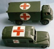 Vintage Dinky Toys Daimler Ambulance and Red Cross Truck #626 made in England