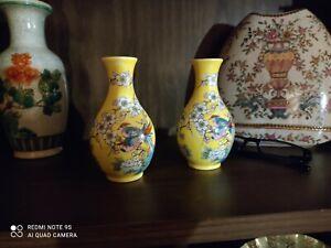 Une-paire-de-Fine-Chinese-vase-en-porcelaine-petite-taille-50-ans-Home-Decor