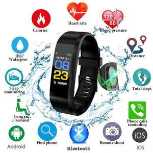 115plus Smart Armband Herzfrequenz Blutdruckuhr Schrittzähler Fitness Tracker SG