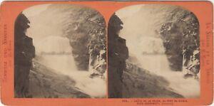 Suisse Caduta Da La Reuss Foto Lamy Pont Del Diable Stereo Vintage Albumina