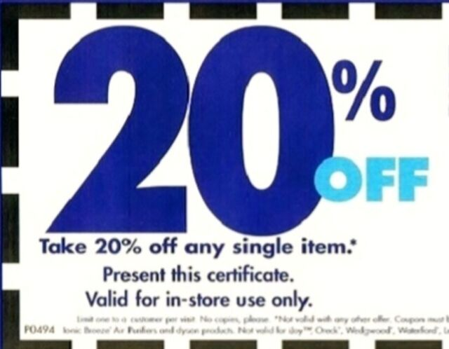 Bed Bath Beyond Coupons 20 Off One Single Item Originals Ebay