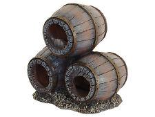Submarino Barriles Ornamento del acuario peces tanque decoración