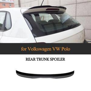 Glanz Schwarz Dachspoiler Heckspoiler Heckflügel Abrisskant Für VW Polo 2019-20