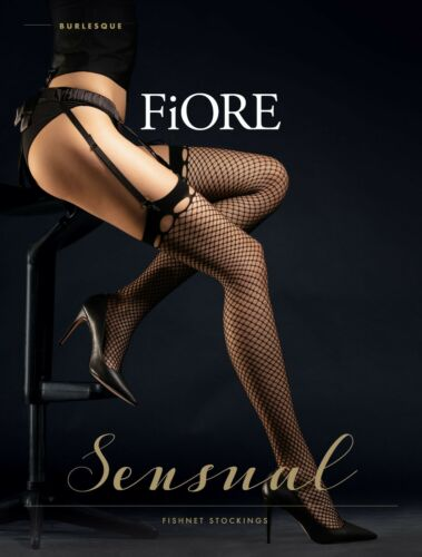 Fiore Suspender Fishnet Stockings Burlesque 30 Den  New Collection