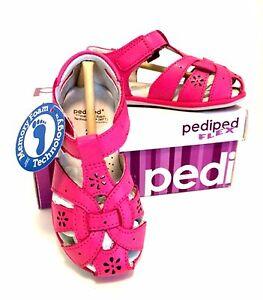 Girl-Toddler-Pediped-Sandal-Flex-Nikki-Leather-Fuchsia-Pink-6-6-5-Velcro-Closure