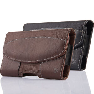 Horizontal-Holster-Belt-Clip-Carrying-Case-Pouch-For-Apple-iPhone-Samsung