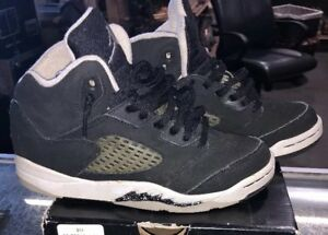 b5123a498afa31 Nike Air Jordan V Retro 5 s Oreo Black White Sneaker Size 2Y 440889 ...